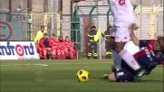 Okaka sorprende Agazzi e segna il goal del Bari a Cagliari