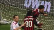 Il Milan aggancia il Cagliari grazie al goal di Borriello