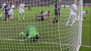 Rafael nega il goal a Vidic con una parata in tuffo
