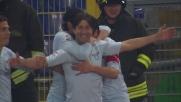 All'Olimpico Sculli segna con freddezza il goal del vantaggio della Lazio sul Palermo