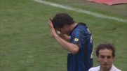 Milito di testa porta in vantaggio l'Inter a San Siro contro il Genoa