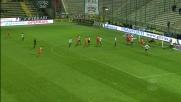 Domizzi di testa sfiora il goal col Parma, ma il palo non è d'accordo