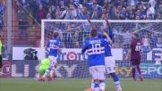 A Marassi Gabbiadini firma il goal del 4-2 sul Livorno