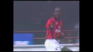 Weah apre le marcature contro la Roma