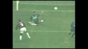 Weah realizza il goal del momentaneo 1-1 nel derby contro l'Inter