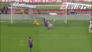 Gilardino non sbaglia davanti alla porta e segna il goal del 3-0 per la Fiorentina
