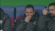 Pepe e Pirlo ridono nella panchina della Juventus