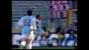 Bazzani anticipa di testa Guardalben, goal della Lazio