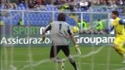 Il goal di Paloschi porta in vantaggio il Chievo Verona al Marassi