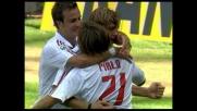 Goal di testa di Ambrosini che supera Rubinho e porta avanti il Milan a Genova