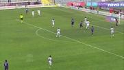 A Firenze con un guizzo di testa Borja Valero sigla il goal contro il Cagliari