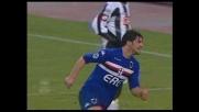 Il goal di Maggio ribalta il risultato e porta in vantaggio la Sampdoria contro l'Udinese