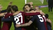 Goal di Pinilla: il Cagliari agguanta la Roma e si porta sul 2-2
