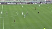 Esterno mancino di Parisi, il Bari sfiora il goal contro il Cagliari