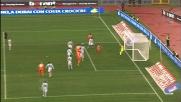 Sanchez segna di tersta il goal che permette all'Udinese di riagguantare la Lazio