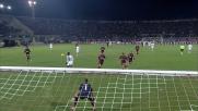 Bardi respinge un contropiede di Balotelli in Livorno-Milan