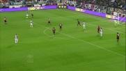 Asamoah ci prova due volte allo Stadium contro il Milan ma la palla termina alta
