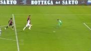 Cannavaro salva sulla linea il tiro di Farias