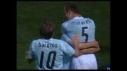 Goal di Mutarelli che 'buca' le mani di Manninger e fa impazzire l'Olimpico