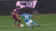 Raul Albiol recupera in tackle su Felipe Anderson