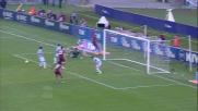 L'azione personale di MIchel Bastos spaventa la Lazio nel derby