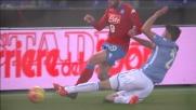 Hoedt ferma David Lopez con un tackle duro ma corretto