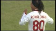 Ronaldinho in anticipo colpisce la traversa al Dall'Ara