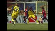 Yepes atterra in area Milito e per l'arbitro è rigore