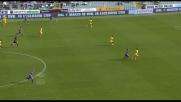 Santana finalizza in rete una grande azione della Fiorentina