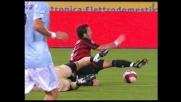 Pasticcio Lazio in area, Gilardino conquista il penalty per il Milan