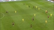 Frey si oppone al colpo di testa di Palacio in Genoa-Fiorentina