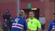 Maxi Lopez viene espulso per proteste contro il Milan