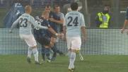 Il destro troppo preciso di Sneijder colpisce la traversa e grazia la Lazio