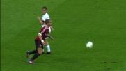 Mexes cattura una palla diretta a Totti e disimpegna a centrocampo