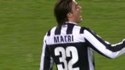 Matri segna il goal del 4-0 contro l'Udinese