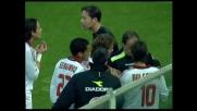 Goal annullato a Gilardino per un fallo dubbio in area viola