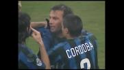 Zanetti realizza il goal del 2-0 nel derby
