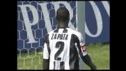 Zapata salva l'Udinese dal goal dopo l'errore di Handanovic