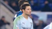 Zarate fa sbandare la difesa dell'Inter con una splendida giocata di suola