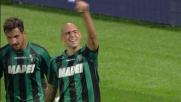 Zaza scappa via fra due difensori e realizza il goal del pareggio contro l'Udinese