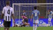 Zielinski solo nell'area della Lazio sbaglia un'incredibile palla goal