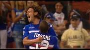 Tacco di Cassano e goal di Mannini: Sampdoria scatenata al Marassi