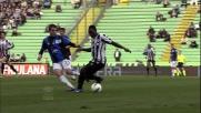 Asamoah in versione Pelè al Friuli contro l'Atalanta