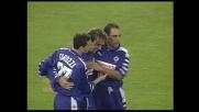 Batistuta porta a due i goal di vantaggio della Fiorentina contro la Salernitana