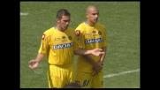Punizione spettacolare di Palombo colpisce il palo contro l'Udinese