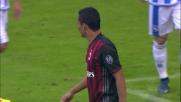 Secondo legno del Milan contro il Pescara. Il palo dice di no a Bacca