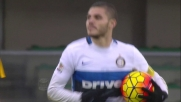 Icardi è implacabile in area di rigore e riapre la partita con l'Hellas