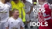 When Kids Meet Their Football Idols